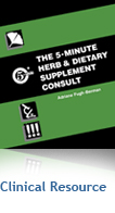 The 5 Minute Herb & Dietary Supplement Consult